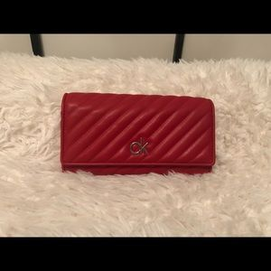 Calvin Klein Red leather wallet ❤️